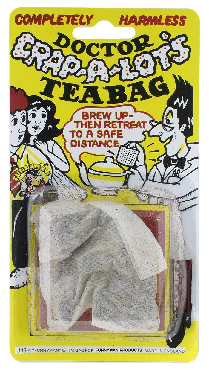 Dr Drinks Tricks Sweets Crapalots Tea Bag by Funnyman products Jokes